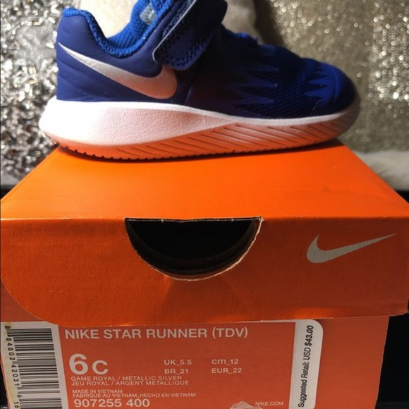 64a3398d648 ✨Nike Star Runner Toddler Boy Shoes 6 (Royal Blue).  M 5be047ee8ad2f9d09c52ee9b